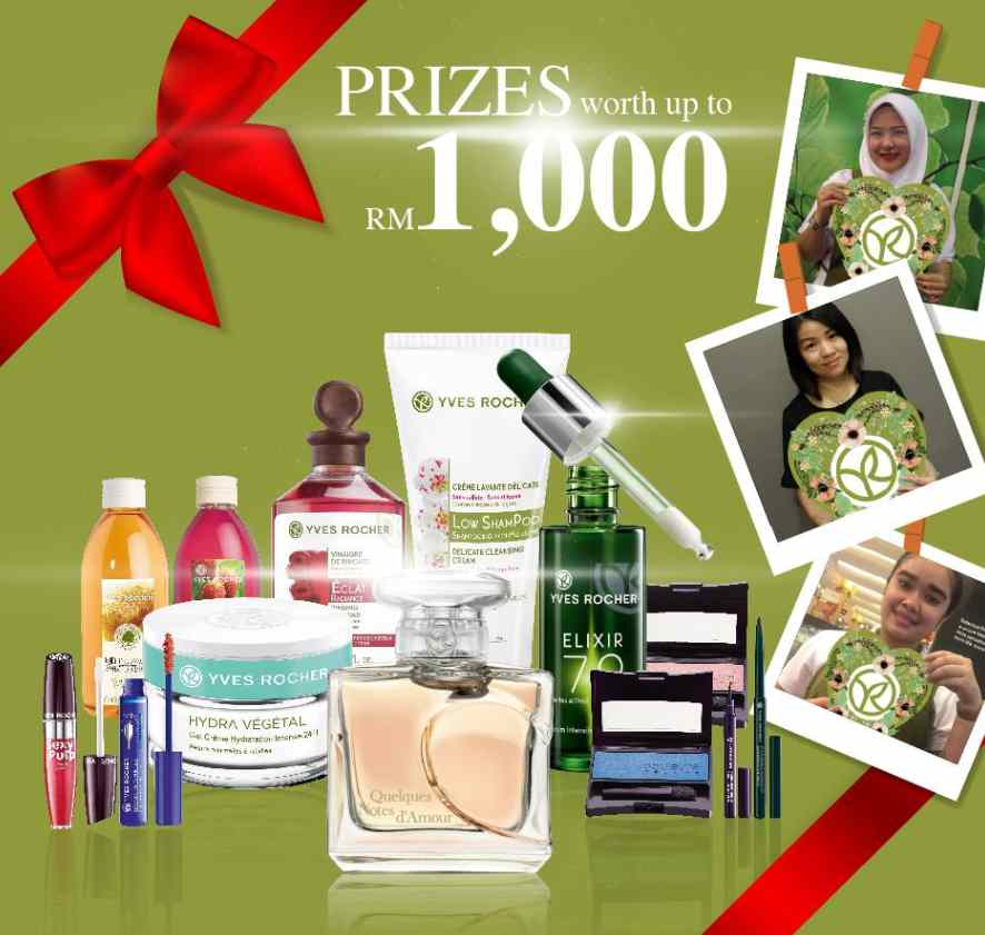 57th Anniversary Snap & Win Contest ! 57 prizes to WIN at Yves Rocher Malaysia