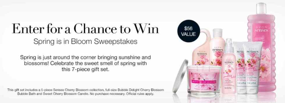Avon Spring is in Bloom Sweepstakes
