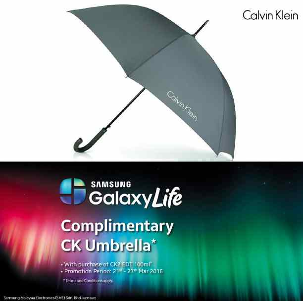 Free CK umbrella at Samsung Mobile Malaysia