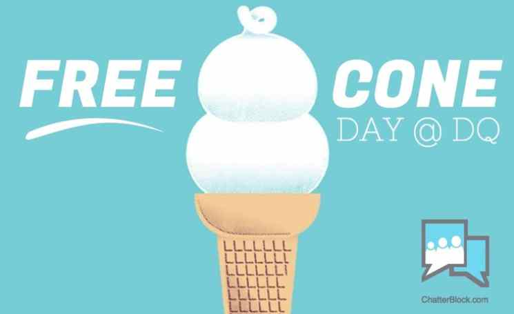 Free Cone Day @ DQ at ChatterBlock #USA