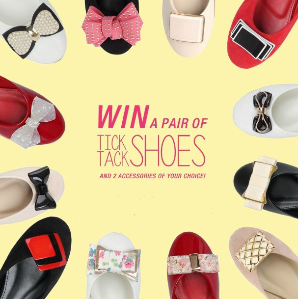 STAND A CHANCE TO WIN a pair of Tick Tack Shoes and 2 accessories of your choice at MITJU SINGAPORE