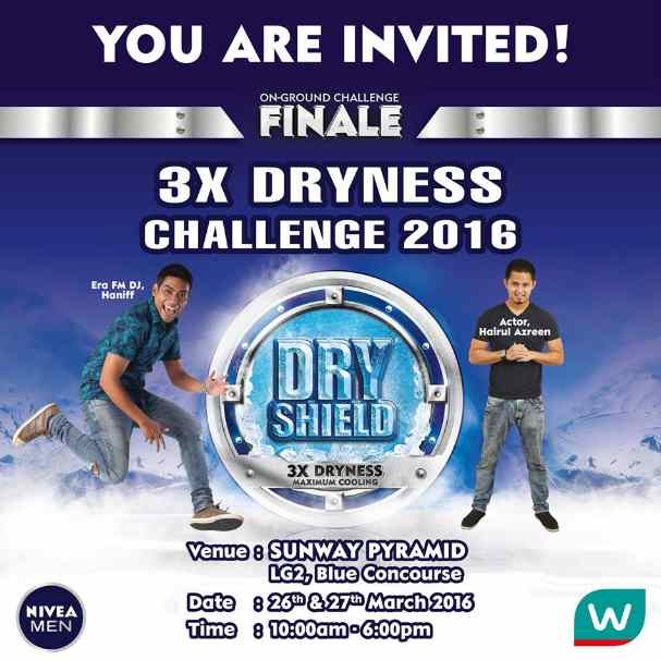 The 3X DRYNESS CHALLENGE is back at Watsons Malaysia