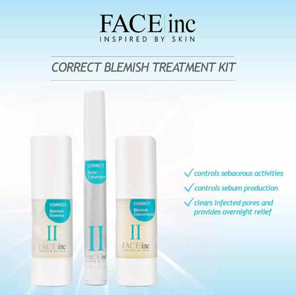The Face Inc Malaysia giveaway A set of correct blemish sample kit