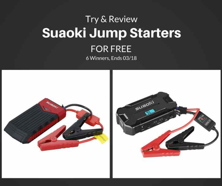 Try and #review Suaoki car jump starters for #free