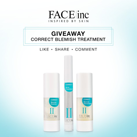WIN a set of correct blemish sample kit at The Face Inc Malaysia