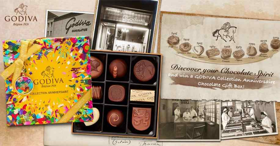 #Win a box of GODIVA Collection Anniversaire Chocolate Gift Box at Godiva Chocolatier (Asia)