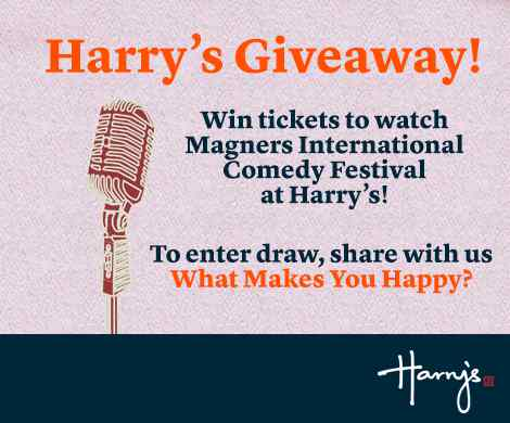 #Win a pair of tickets to catch the Magners International Comedy Festival at Harry's Bar Singapore