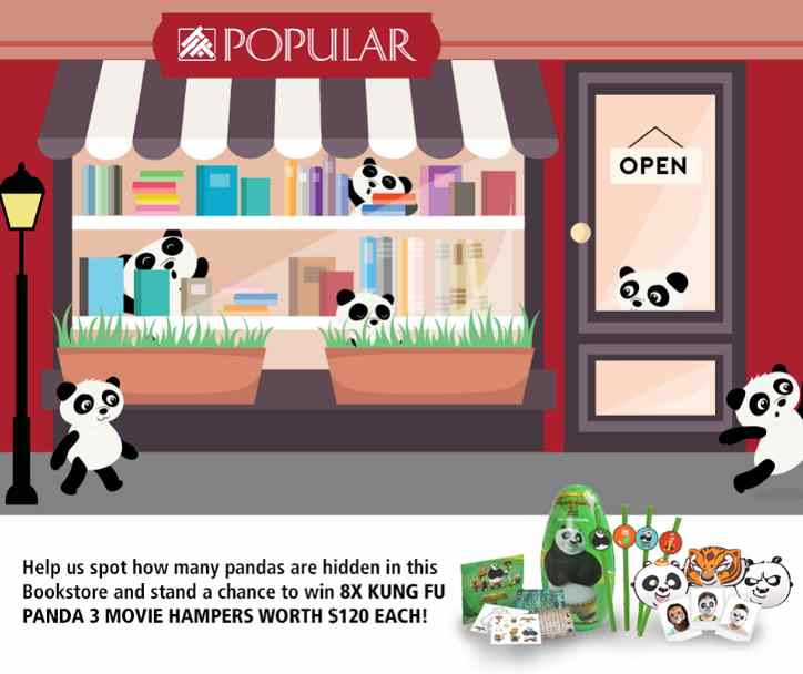 #Win a set of Kung-Fu Panda 3 movie premiums at Popular Book Company Pte Ltd