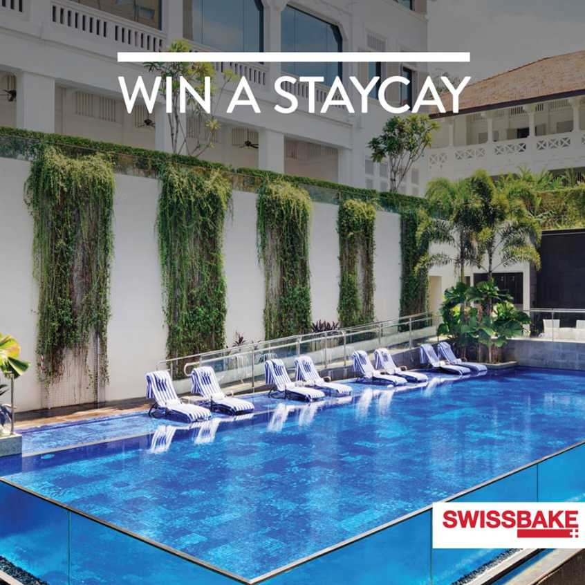 Win a staycay for two at Mövenpick Heritage Hotel Sentosa worth $425 and other attractive prizes at Swiss Bake Pte Ltd