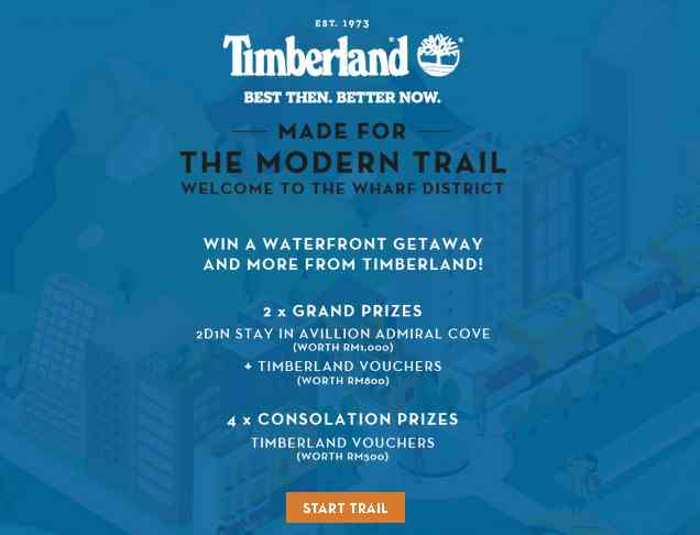 Win a waterfront getaway and more at Timberland #Malaysia