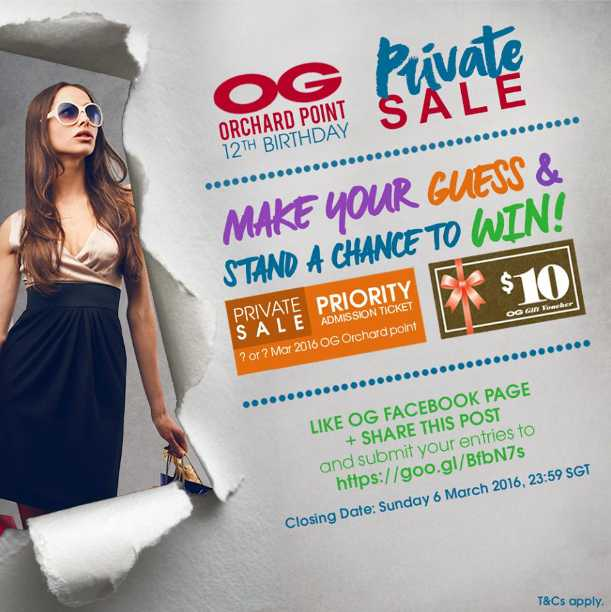 Win priority admission tickets plus a $10 OG Gift Voucher at OG Singapore