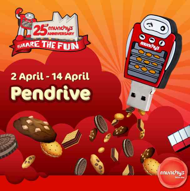 Giveaway Limited edition Funbot pendrives at Munchy's #Malaysia