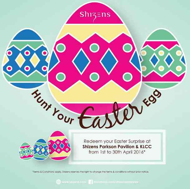 Hunt your Easter Surprise at Shizen Counter, Parkson Pavlion & KLCC
