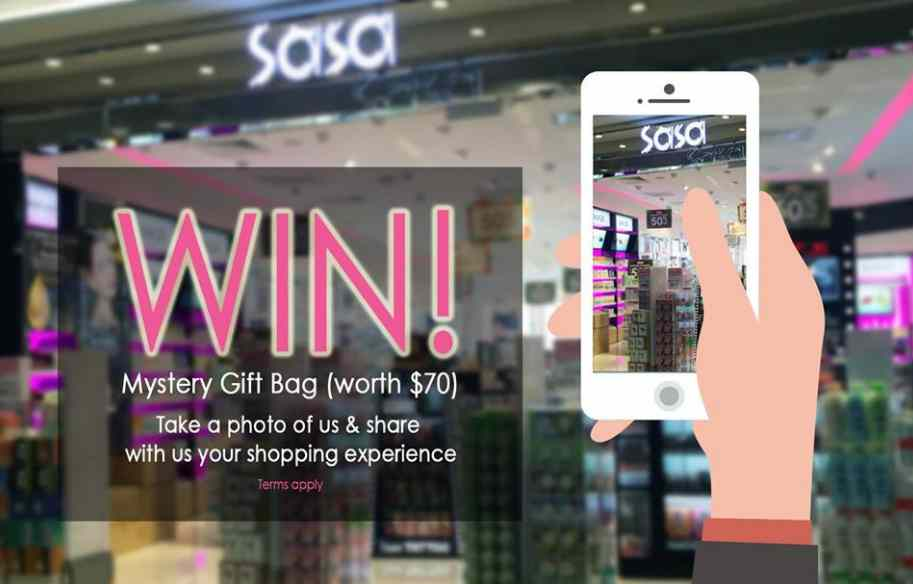 WIN MYSTERY GIFT BAG AT SASA SINGAPORE