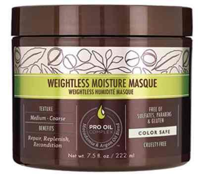 Win Macadamia Professional Weightless Moisture Masque at Allure