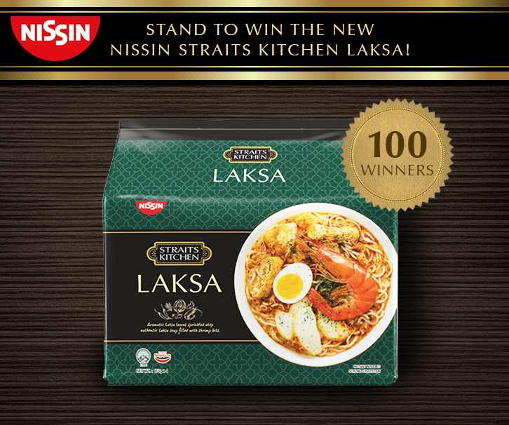 Be one of the lucky 100 to win our brand new Nissin Straits Kitchen Laksa!