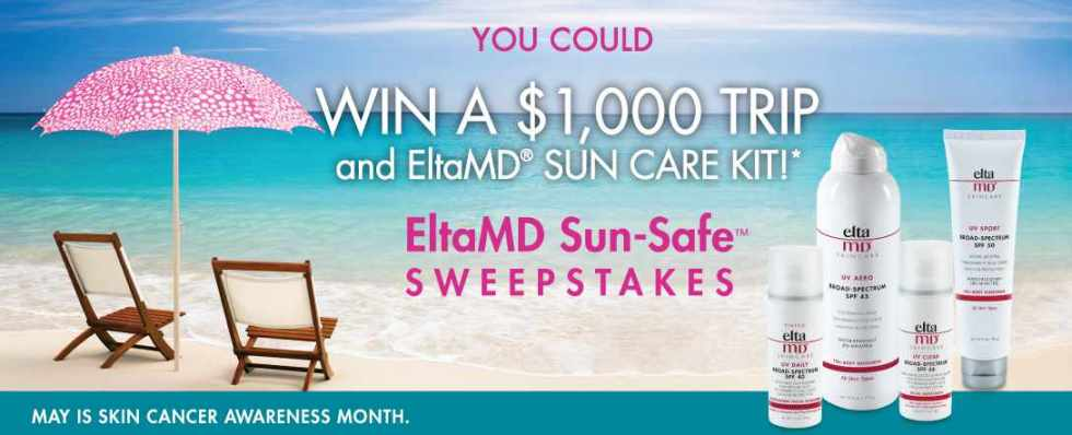 Sun-Safe Getaway and one Sun Care Kit – one winner for every day in May!