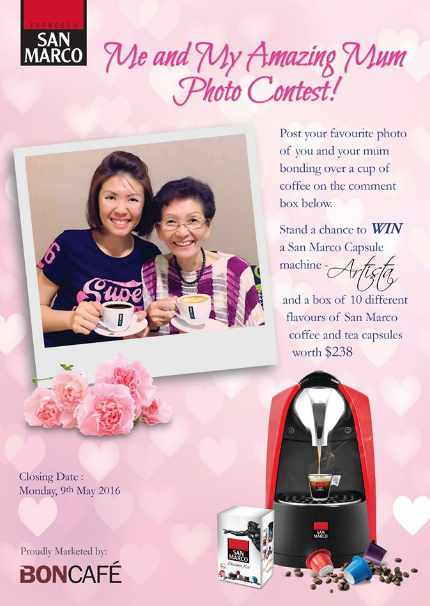#Win a San Marco Capsule Machine - Artista and a Starter Kit at Boncafe International - Singapore