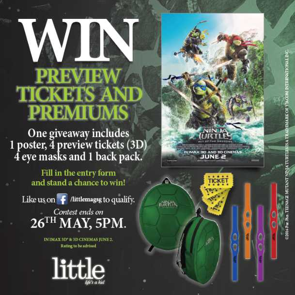 Win tickets to watch Teenage Mutant Ninja Turtles Out Of The Shadows at little