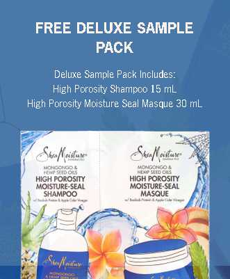 Free sample of High Porosity Mongongo & Hemp Seed Oils