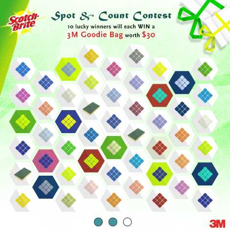 Join Scotch-Brite Spot & Count Contest for a chance to win a goodie bag worth of $30 3M products