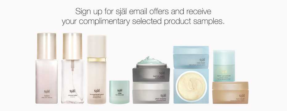 Join the själ email list and receive complimentary packet samples of selected products