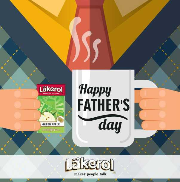 Post a greeting to your Dad below and stand a chance to be rewarded with a sweet treat at Läkerol Singapore