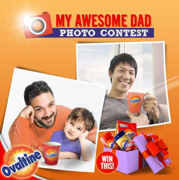 Snap us a photo to win a $50 Ovaltine Hamper this Father's Day at Ovaltine Singapore