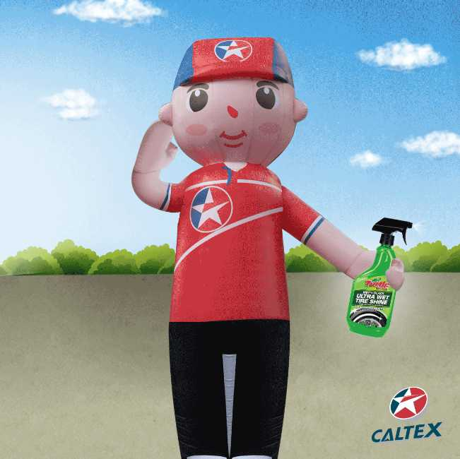 Stand a chance to win Turtle Wax Wet'n Black Ultra Wet Tire Shine at Caltex Singapore