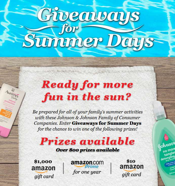 HEALTHY ESSENTIALS®  Program's Giveaways for Summer Days