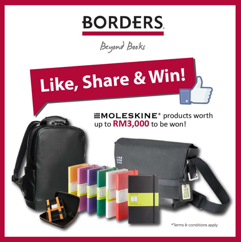 Like, Share & Win at Borders Malaysia