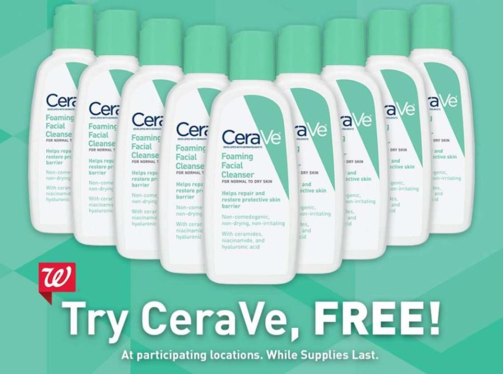 #FREE CeraVe® cleanser at Walgreens