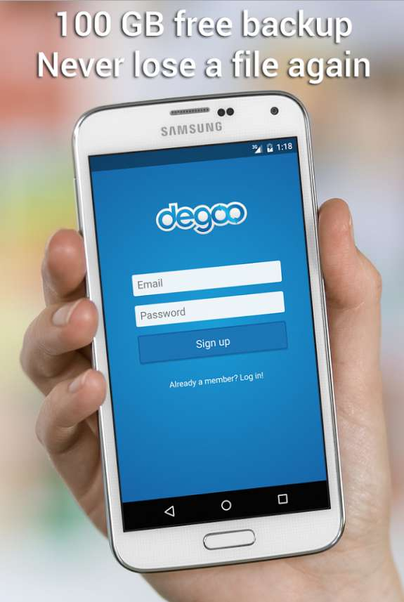 #Free 100GB Free Cloud Storage Degoo for Android Users