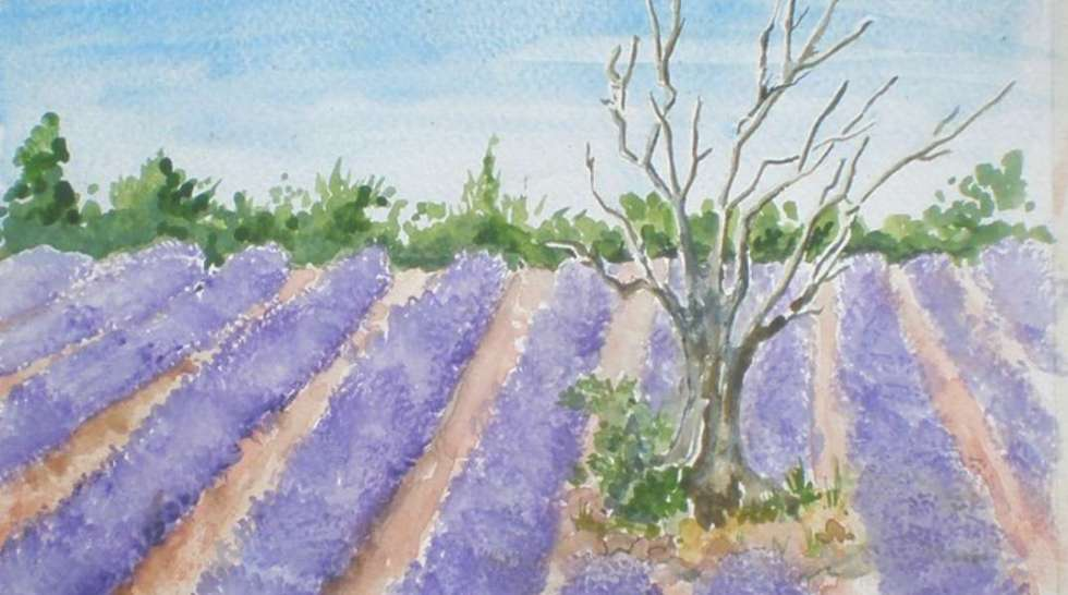 #Free Udemy Course on Paint a colourful, fluid & dramatic lavender field. Watch me