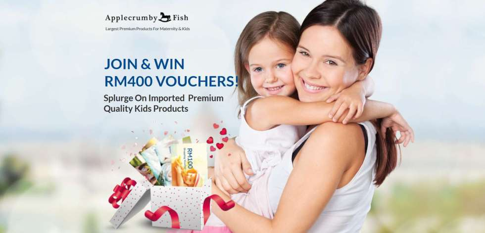 JOIN & WIN RM400 VOUCHERS AT APPLECRUMBYFISH