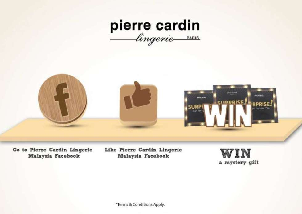 Merdeka #Giveaway at Pierre Cardin Lingerie Malaysia