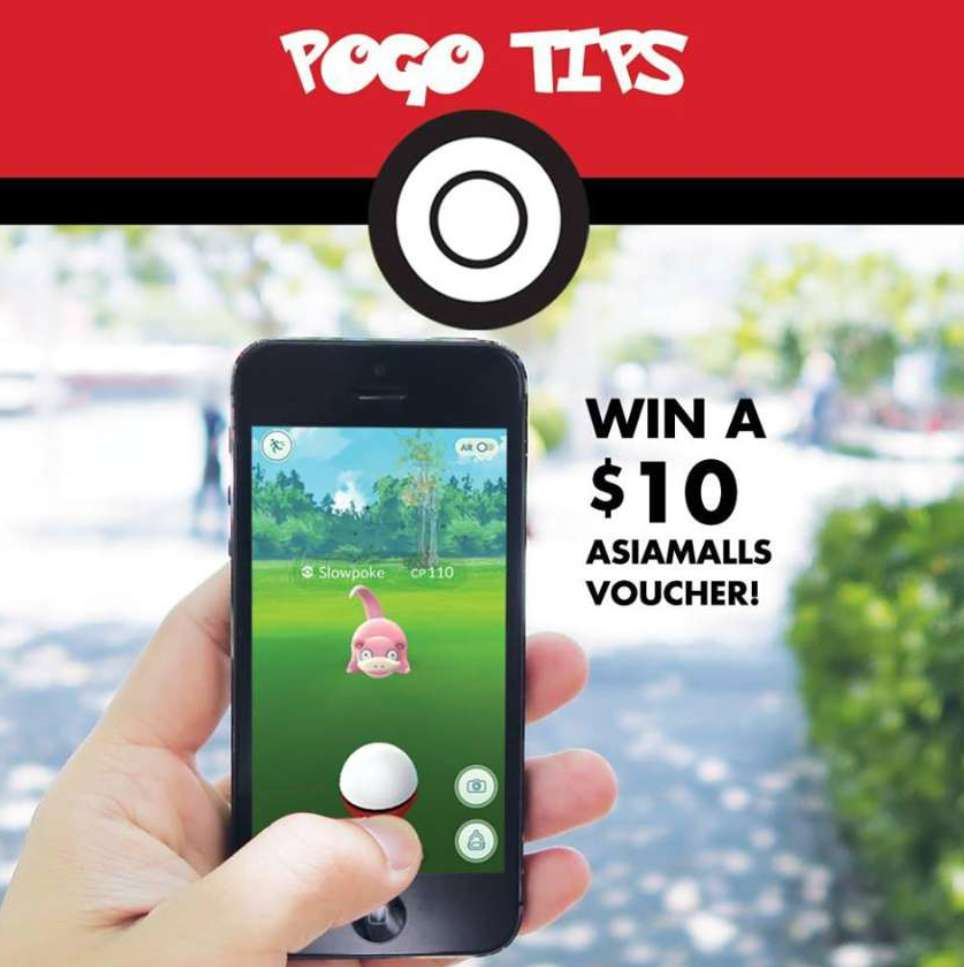 Share useful tips on Pokémon Go & win a $10 AsiaMalls Voucher at Century Square