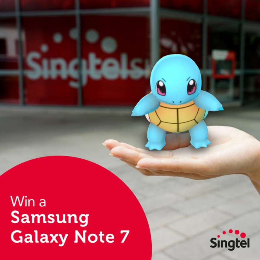 Simply take the most creative photo of your Pokemon Go journey & stand a chance to#WIN a Samsung Galaxy Note7 at Singtel