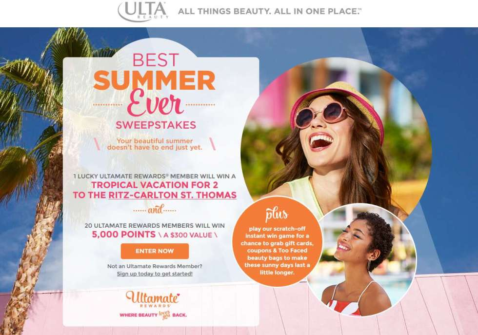 Ulta Best Summer Ever Sweepstakes