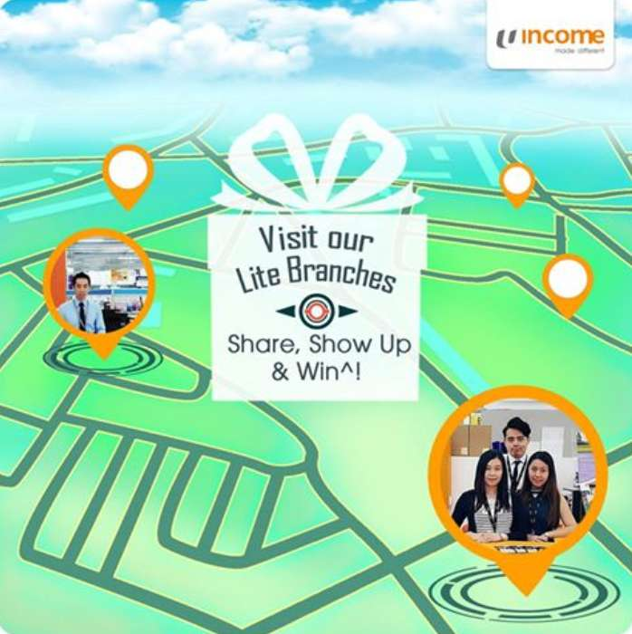 Visit Income Lite Branches for a chance to redeem exciting gifts!