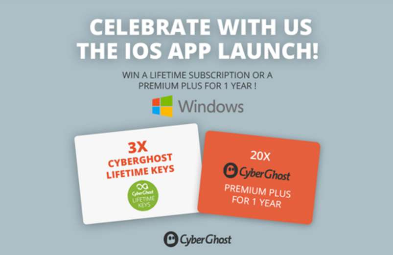 #WIN a lifetime subscription or a premium plus for 1 year at CyberGhost