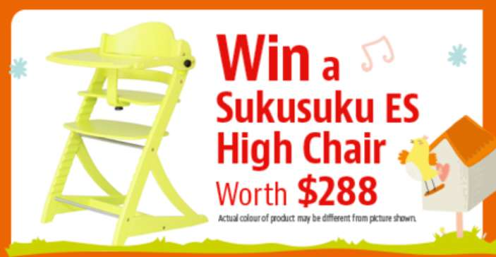 Win a Sukusuku ES High Chair at Motherhood Magazine