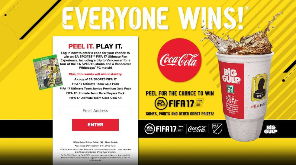 Coca-Cola and 7-Eleven EA SPORTS™ Instant Win