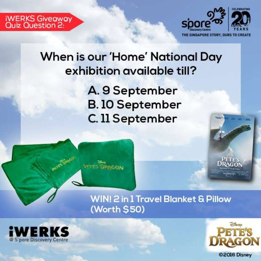 #WIIN Pete's Dragon 2-in-1 Travel Blanket and Pillow at Singapore Discovery Centre