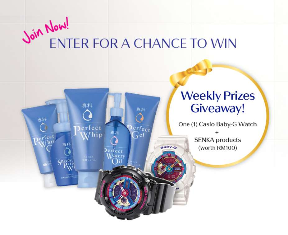 #Win Casio Baby G Watch + SENKA Products
