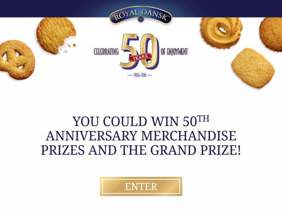 royal-dansk-50th-anniversary-instant-win-game-sweepstakes