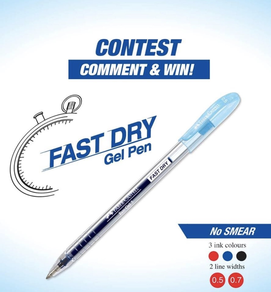 win fabercastell eco gel pens malaysia  giftout free