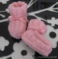 scarpette-neonato-di-lana-ai-ferri-rosa-3