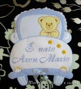 coccarda-fiocco-nascita-macchina-per-Aron-Mario