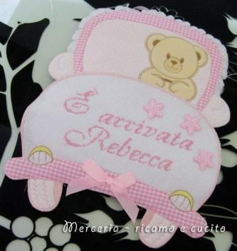 Fiocchi nascita macchina e orsetto con cuore per RebeccaFiocchi nascita macchina e orsetto con cuore per Rebecca